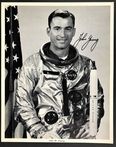 John Young - Signed Inscribed Photo- Official NASA Photo