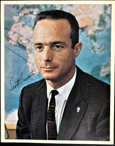 Scott Carpenter - Autographed Signed Color Photograph - Official NASA Photo