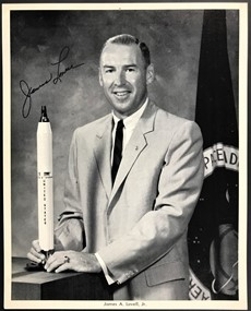 James Arthur Lovell - Signed Inscribed Photo - Official NASA Photo