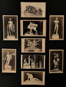 Georges SOMMER - Ancient sculptures. Nine pictures.