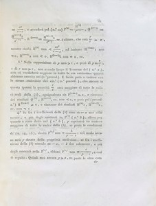 Paolo RUFFINI - Lagrange-Mathematics. RUFFINI-ABBATI. Lot of two works in a volume.