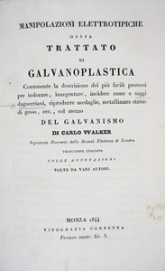 Charles WALKER - Electrotyping. WALKER. Manipolazioni elettrotipiche.