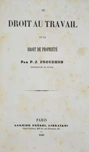 Pierre-Joseph PROUDHON - Four works in a volume.