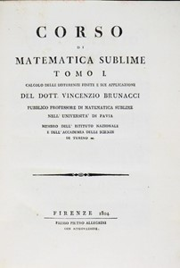 Vincenzo BRUNACCI - Genesis of the Abel theorem. BRUNACCI. Corso di Matematica Sublime.