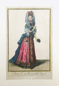 AA.VV. - Lot of two engravings on French fashion of XVII century.