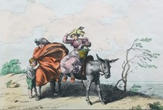 Bartolomeo PINELLI - PINELLI. Two colored etchings.