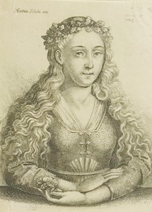 AA.VV. - SCHONGAUER - HOLLAR. Woman with wreath oak leaves.