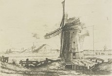 Anonimo - Landscape with windmill.