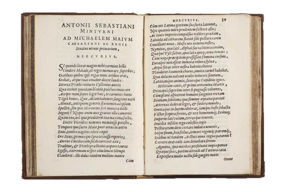 Humanistic poetry of the XVI Century. MINTURNO.  - Auction FINE AND RARE BOOKS - Bado e Mart Auctions