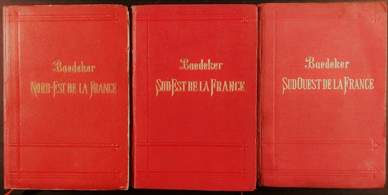 Karl Baedeker : BAEDEKER. Tre guide sulla Francia.  - Auction FINE AND RARE BOOKS, VOYAGES, ATLASES, MAPS AND PRINTS - Bado e Mart Auctions