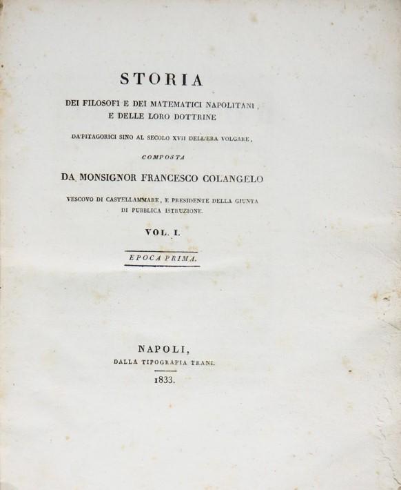 Calendario Aste Trani.Francesco Colangelo Storia Dei Filosofi E Dei Matematici