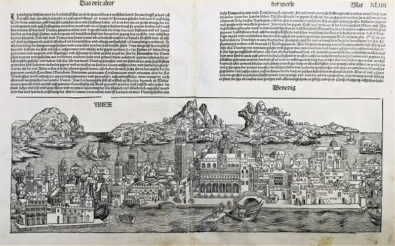 Hartmann SCHEDEL : Venice.  (1493)  - Asta TRAVEL AND SCIENTIFIC BOOKS, ATLASES, PRINTS AND PHOTOS - Bado e Mart Auctions
