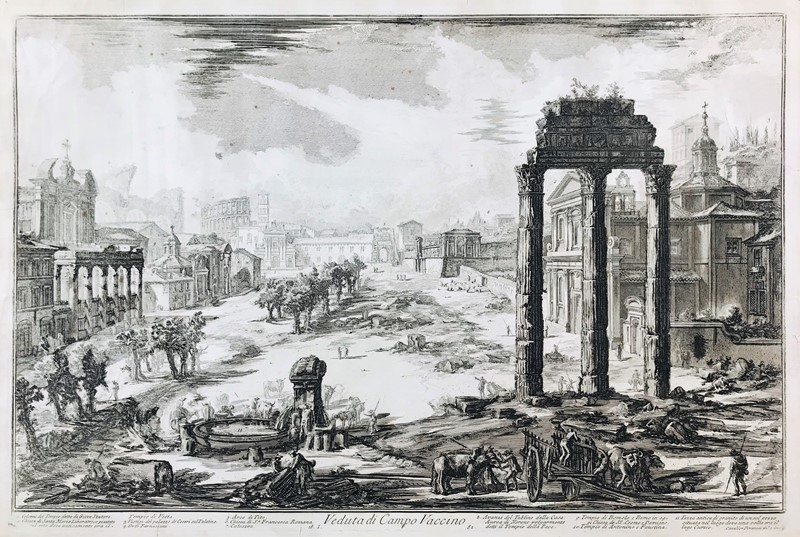 Giovanni Battista PIRANESI : PIRANESI. Campo Vaccino. Etching.  - Auction FROM VENICE TO ORIENT ANTIQUE ART WORKS. - Bado e Mart Auctions
