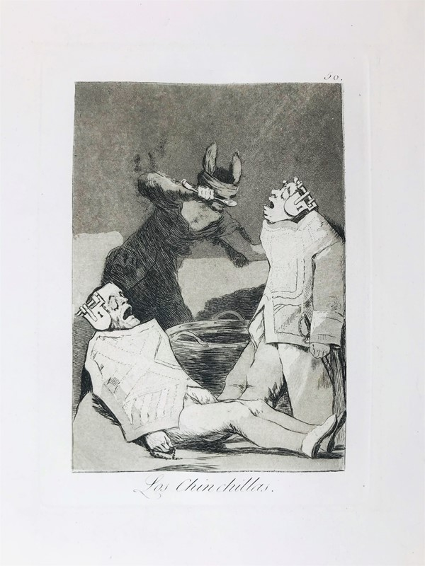 Francisco José Goya y Lucientes : Los Chinchillas.  (1881-1886.)  - Auction TRAVEL AND SCIENTIFIC BOOKS, ATLASES, PRINTS AND PHOTOS - Bado e Mart Auctions