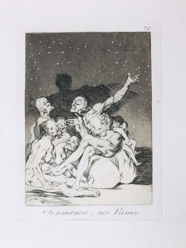 Francisco José Goya y Lucientes : Si Amanece nos vamos  (1881-1886.)  - Asta TRAVEL AND SCIENTIFIC BOOKS, ATLASES, PRINTS AND PHOTOS - Bado e Mart Auctions