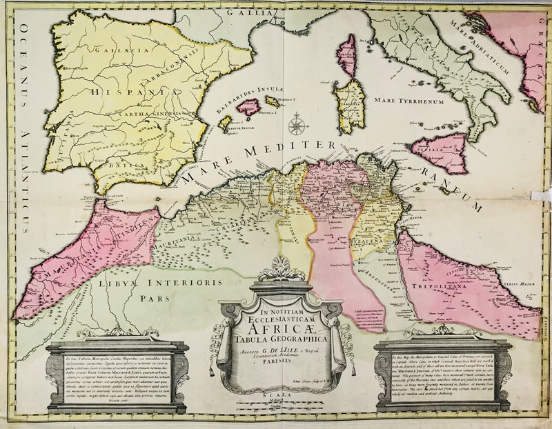 Guillaume Delisle,John Senex : Africae. Map.  (1745)  - Auction TRAVEL AND SCIENTIFIC BOOKS, ATLASES, PRINTS AND PHOTOS - Bado e Mart Auctions