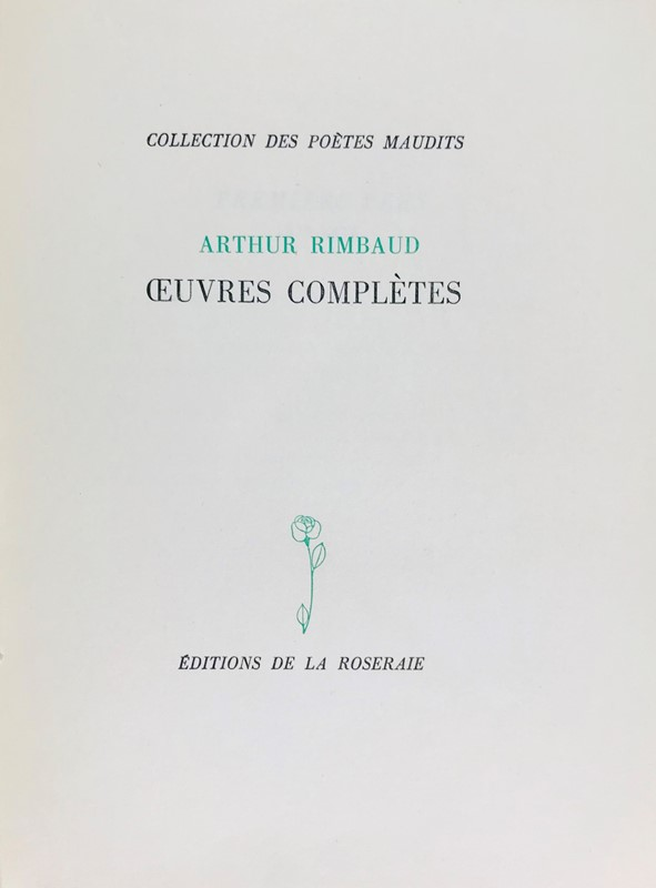 Arthur Rimbaud : Oeuvres completès.  (1945)  - Auction TRAVEL AND SCIENTIFIC BOOKS, ATLASES, PRINTS AND PHOTOS - Bado e Mart Auctions