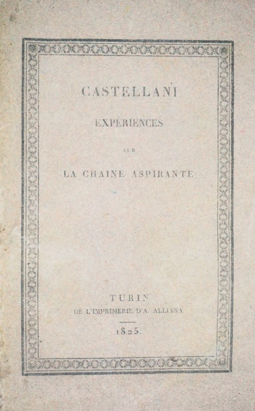 Giuseppe Antonio CASTELLANO : Hydraulics. Lot of two works in a volume of the suction chian.  - Auction FINE AND RARE BOOKS AND AUTOGRAPHS - Bado e Mart Auctions