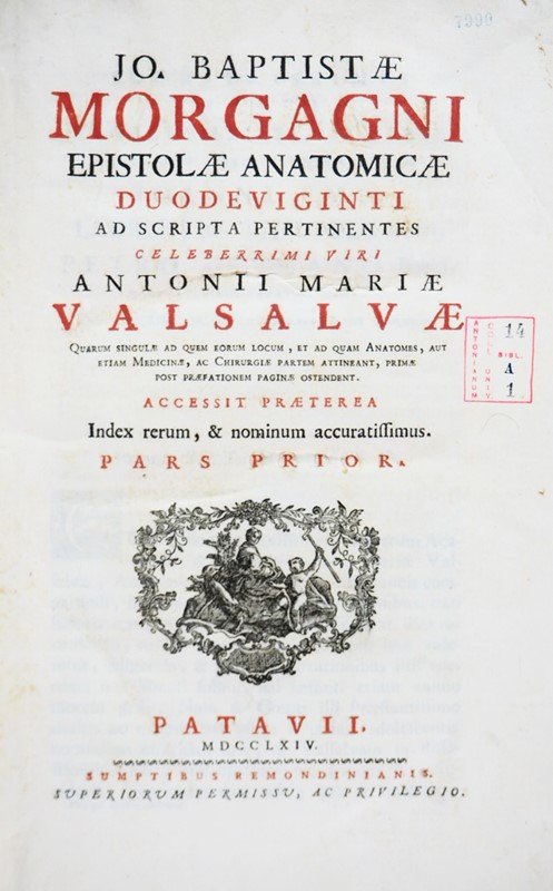 Giambattista MORGAGNI : Anatomy. MORGAGNI. Epistolae Anatomicae Duodeviginti.  - Auction FINE AND RARE BOOKS - Bado e Mart Auctions