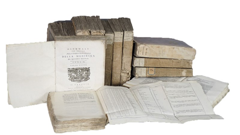 AA.VV. : Medical Journal. Giornale per servire alla storia ragionata della Medicina di questo secolo.  - Auction FINE AND RARE BOOKS AND AUTOGRAPHS - Bado e Mart Auctions