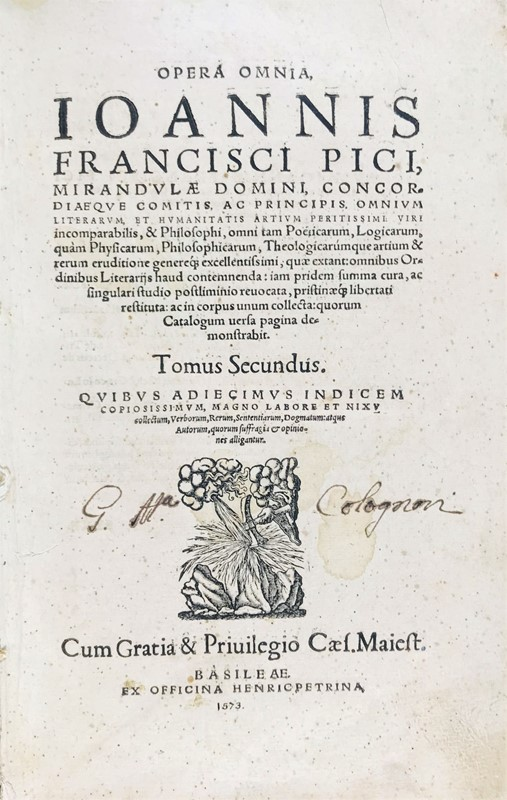 Giovanni PICO DELLA MIRANDOLA : PICO DELLA MIRANDOLA. Opera omnia …  - Auction FINE AND RARE BOOKS AND AUTOGRAPHS - Bado e Mart Auctions