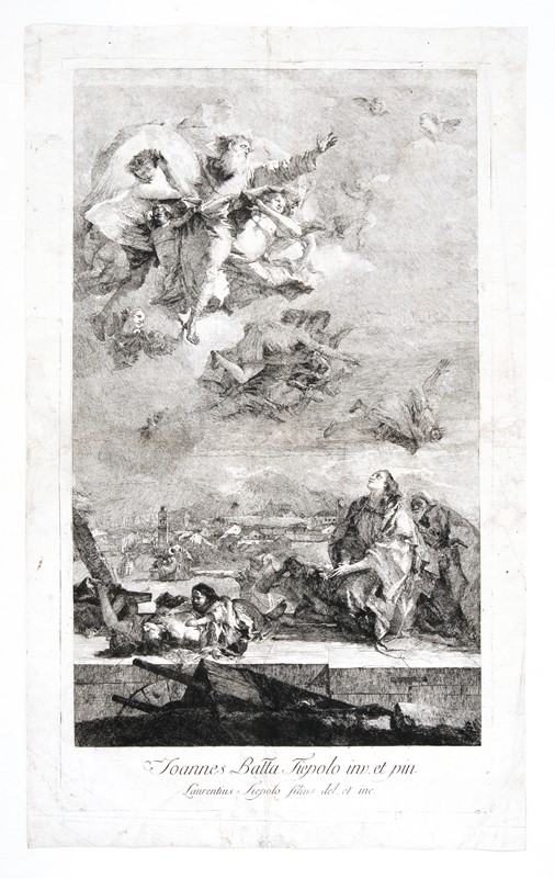 Lorenzo TIEPOLO : Lorenzo TIEPOLO. S. Tecla.  - Auction FROM VENICE TO ORIENT ANTIQUE ART WORKS. - Bado e Mart Auctions