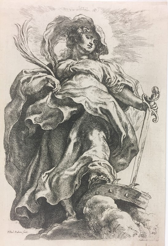 Pieter Paul RUBENS. Santa Caterina d'Alessandria.  - Auction FROM VENICE TO ORIENT PART II. ANTIQUE ART WORKS. - Bado e Mart Auctions