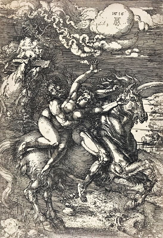 Albrecht DURER. The Kidnapping of Proserpina.  - Auction RARE BOOKS, ATLASES, AUTOGRAPHS  [..]