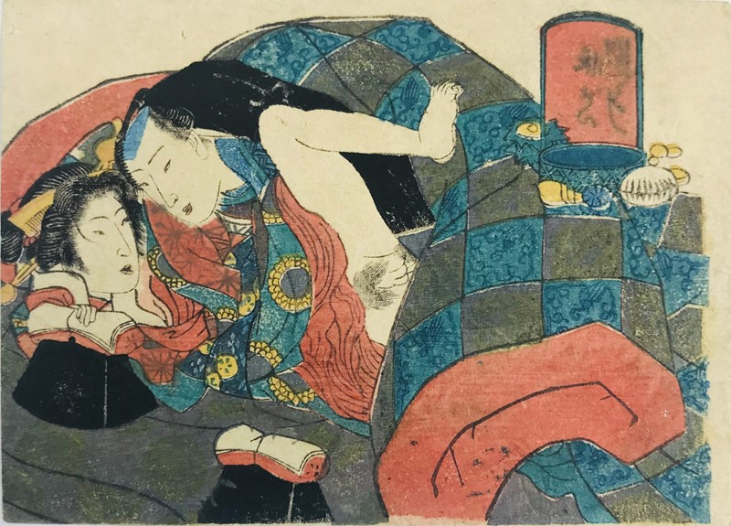 KUNISADA. SHUNGA-Erotic Print.  - Auction FROM VENICE TO ORIENT PART II. ANTIQUE ART WORKS. - Bado e Mart Auctions