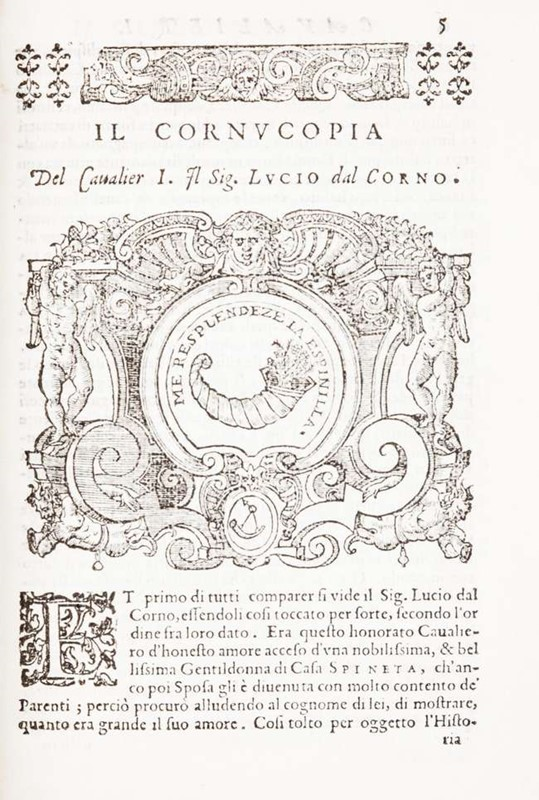 Carousel. DALLA TORRE. Dialogo della giostra fatta in Trivigi l'anno MDXCVII.  - Auction FINE AND RARE BOOKS - Bado e Mart Auctions