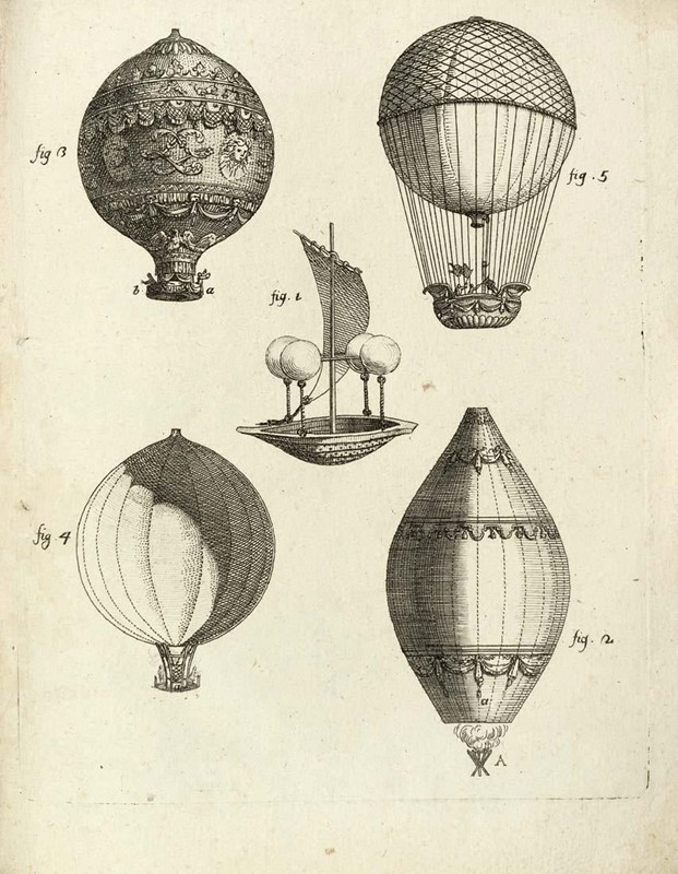 Aerostatic balloons. AMORETTI. Delle macchine aerostatiche.  - Auction FINE AND RARE BOOKS - Bado e Mart Auctions