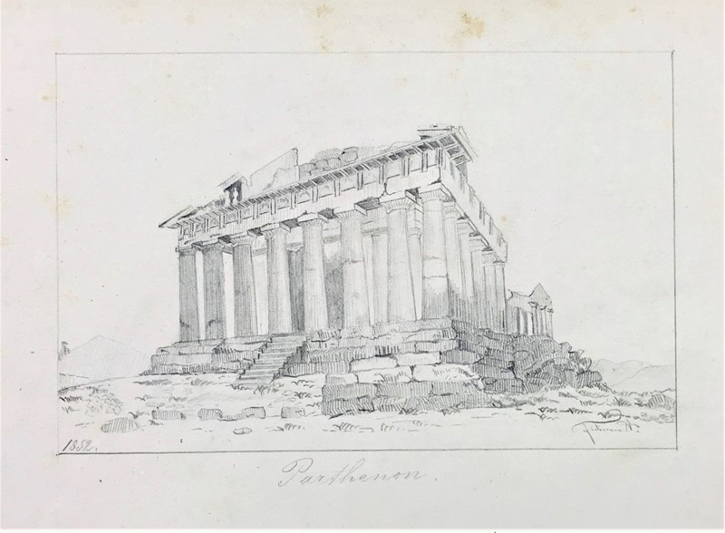 Anonimo : Parthenon.  - Auction FROM VENICE TO ORIENT PART II. ANTIQUE ART WORKS. - Bado e Mart Auctions