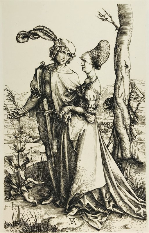 Albrecht DURER. The lovers and the Death.  - Auction FROM VENICE TO ORIENT ANTIQUE ART WORKS. - Bado e Mart Auctions