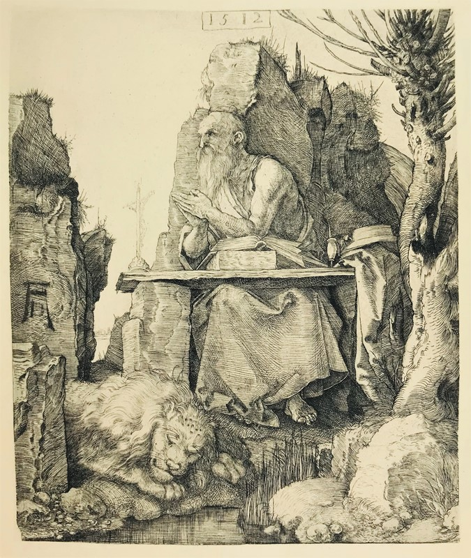 Albrecht DURER. S. Jerome praying.  - Auction FROM VENICE TO ORIENT ANTIQUE ART WORKS. - Bado e Mart Auctions