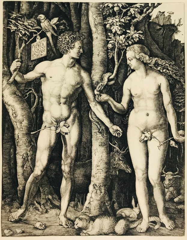 Albrecht DURER. Adam and Eve.  - Auction FROM VENICE TO ORIENT PART II. ANTIQUE ART WORKS. - Bado e Mart Auctions