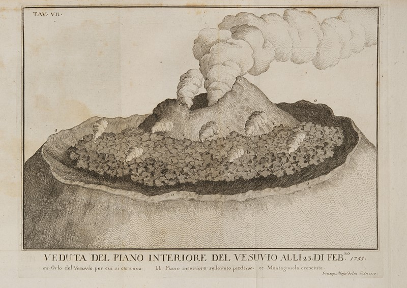 Volcanology. Lot of 4 works. DELLA TORRE.  - Auction FINE AND RARE BOOKS, VOYAGES, ATLASES, MAPS AND PRINTS - Bado e Mart Auctions