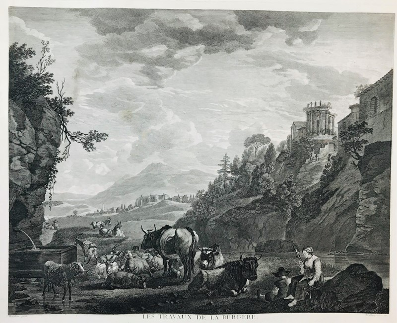 AA.VV. : BERCHEM - LE CHARPENTIER. Les travaux de la bergère.  - Auction FROM VENICE TO ORIENT PART II. ANTIQUE ART WORKS. - Bado e Mart Auctions