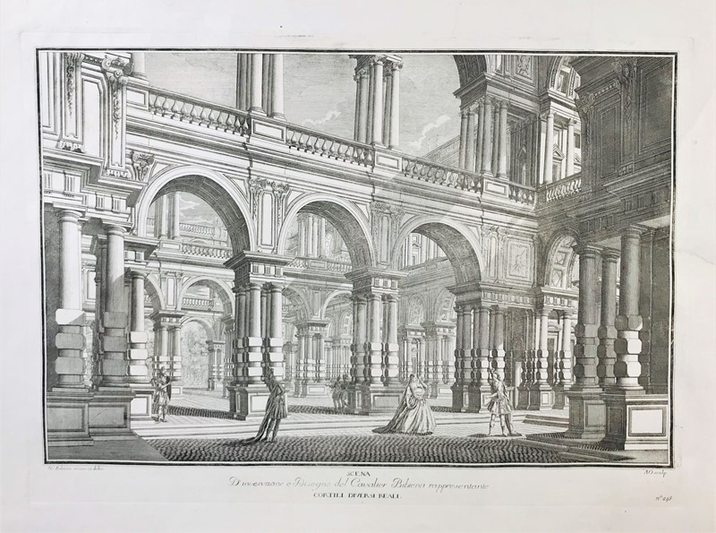 GALLI BIBIENA. Different Royal Gardens.  - Auction FINE RARE BOOKS, ATLASES and DRAWINGS - Bado e Mart Auctions