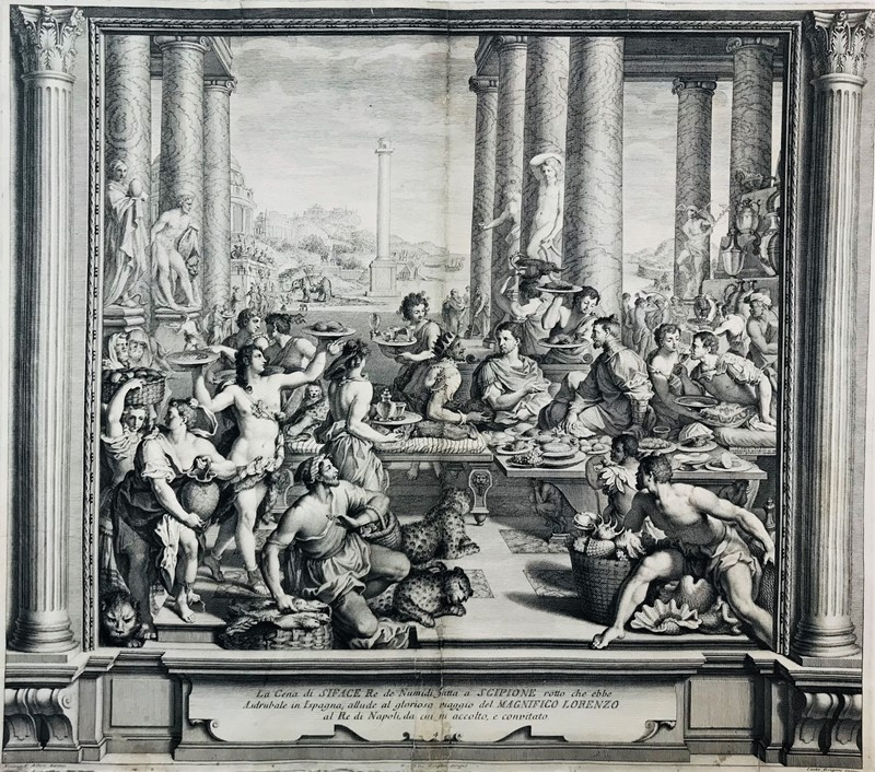 AA.VV. : Lorenzo de' Medici. ALLORI – MORGHEN –  GREGORI. The dinner of Siface king of Numides made for Scipio.  - Auction FROM VENICE TO ORIENT PART II. ANTIQUE ART WORKS. - Bado e Mart Auctions