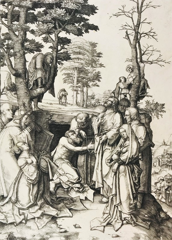 VAN LEYDEN. The raising of Lazarus.  - Auction FINE RARE BOOKS, ATLASES and DRAWINGS - Bado e Mart Auctions