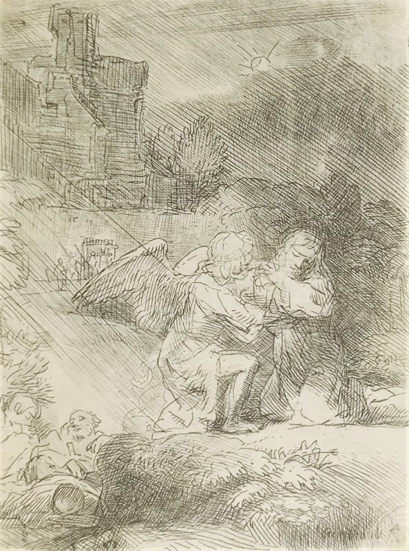 Harmenszoon van Rijn REMBRANDT : REMBRANDT. Agony in the garden.  - Auction FROM VENICE TO ORIENT PART II. ANTIQUE ART WORKS. - Bado e Mart Auctions