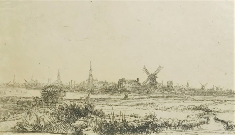 REMBRANDT. View of Amsterdam from the North-West.  - Auction RARE BOOKS, ATLASES,  [..]