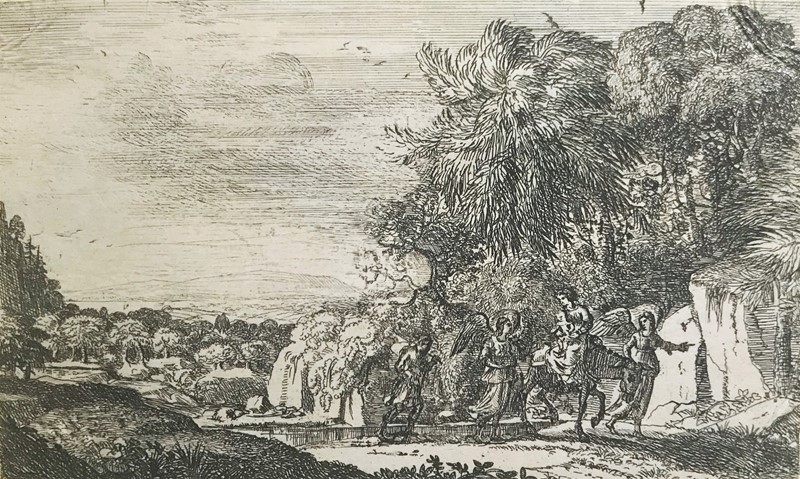 Claude Gellée LORRAIN : LORRAIN. The flight in Egypt.  - Auction FROM VENICE TO ORIENT PART II. ANTIQUE ART WORKS. - Bado e Mart Auctions