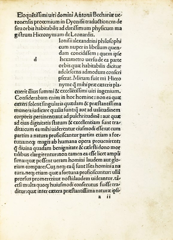 Incunabulum. DIONISIUS. De situ orbis.  - Auction FINE RARE BOOKS, ATLASES and DRAWINGS - Bado e Mart Auctions