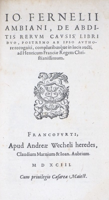 Medicine. FERNEL. Therapeutices Universalis/De Abditis.  - Auction FINE AND RARE BOOKS AND AUTOGRAPHS - Bado e Mart Auctions