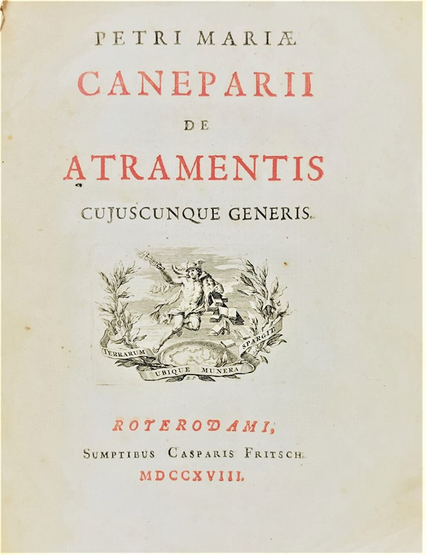Mineralogy, Ink. CANEPARI. De atramentis cujuscunque...  - Auction FINE AND RARE BOOKS - Bado e Mart Auctions