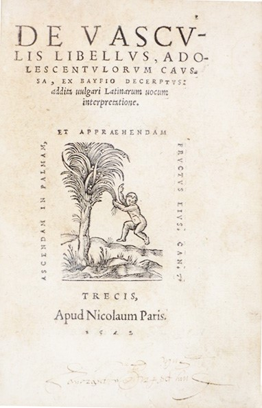 Roman Antiquities. BAIF. De vasculis libellus..  - Auction FINE AND RARE BOOKS - Bado e Mart Auctions