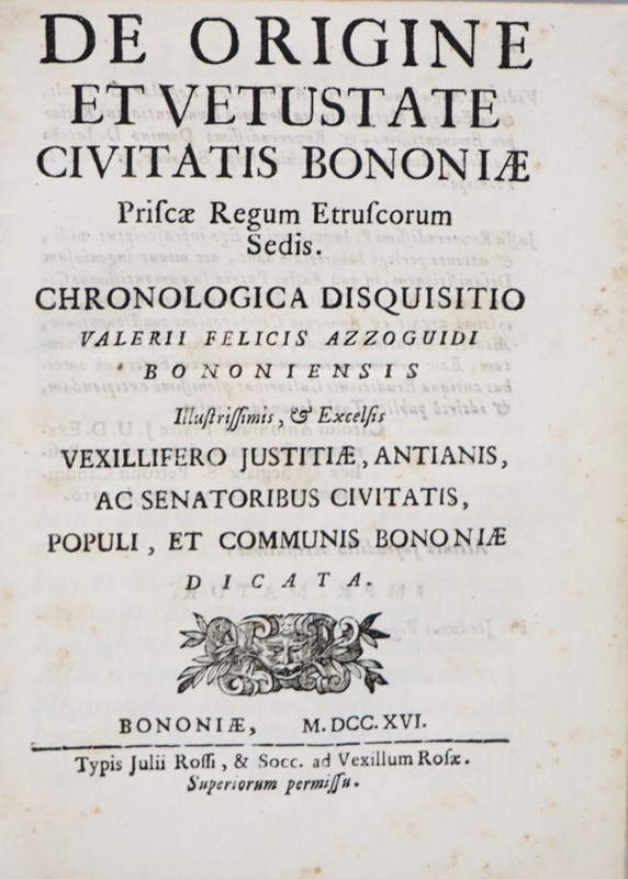 Bologna's local history. AZZOGUIDI.  - Auction MERRY CHRISTMAS BOOKS TIMED AUCTION - Bado e Mart Auctions