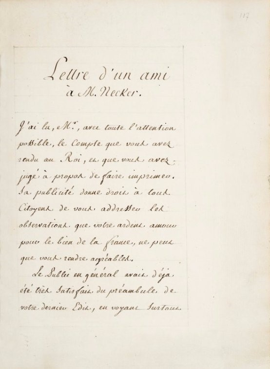 Economy. NECKER. Compte rendu au Roi.  - Auction FINE AND RARE BOOKS AND AUTOGRAPHS - Bado e Mart Auctions