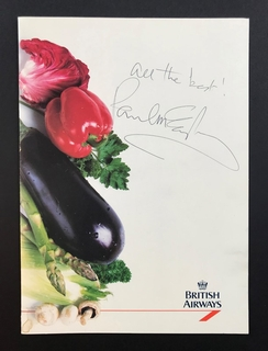 Paul MCCARTNEY. Autograph
